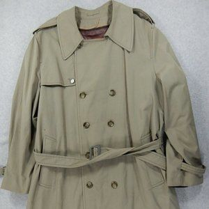 Arnie Double Breasted Wool Liner Trench Coat